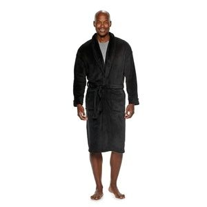 croft & barrow Accessories - mens Black plush Robe